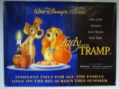 LADY AND THE TRAMP (1997 RE-RELEASE) MOVIE POSTER - WALT DISNEY / ANIMATION / FAMILY - UK QUAD