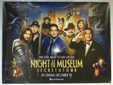 NIGHT AT THE MUSEUM (2014) - ADVANCE DESIGN - ADVENTURE / COMEDY - UK QUAD FILM / MOVIE POSTER -