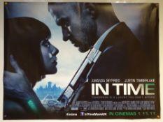 IN TIME (2011) - ADVANCE DESIGN POSTER - ACTION / SCI-FI / THRILLER - JUSTIN TIMBERLAKE - UK QUAD