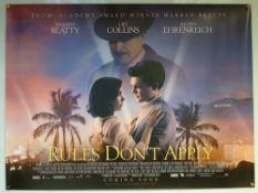 RULES DON'T APPLY (2016) - ADVANCE DESIGN POSTER - COMEDY / DRAMA / ROMANCE - UK QUAD FILM / MOVIE
