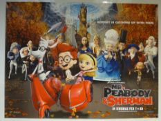 MR/ PEABODY AND SHERMAN (2014) - ADVANCE POSTER - ANIMATION / ADVENTURE / COMEDY - UK QUAD FILM /