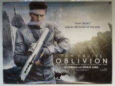 OBLIVION (2013) - ACTION / SCIFI / ADVENTURE - TOM CRUISE / MORGAN FREEMAN - UK QUAD FILM / MOVIE
