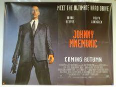 JOHNNY MNEMONIC (1995) - ACTION / DRAMA / SCI-FI - KEANU REEVES / DOLPH LUNDGREN - UK QUAD FILM /