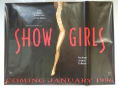SHOW GIRLS (1995) - DRAMA - ELIZABETH BERKLEY / KYLE MACLACHLAN - UK QUAD FILM / MOVIE POSTER -