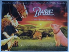 BABE (1995) - ANIMATION / COMEDY / DRAMA / FAMILY - JAMES CROMWELL - UK QUAD FILM / MOVIE POSTER -