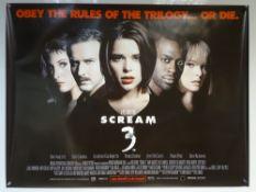 SCREAM 3 (2000) - THRILLER / ACTION - DAVID ARQUETTE / COURTNEY COX ARQUETTE - UK QUAD FILM /