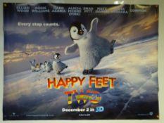 HAPPY FEET TWO (2011) - ADVANCE DESIGN POSTER - UK QUAD FILM / MOVIE POSTERANIMATION / ADVENTURE /
