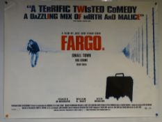FARGO (1996) - CRIME / DRAMA / COMEDY - WILLIAM H MACY / FRANCES MCDORMAND - UK QUAD FILM / MOVIE