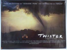 TWISTER (1996) - ADVENTURE / THRILLER - HELEN HUNT / BILL PAXTON - UK QUAD FILM / MOVIE POSTER -