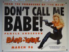 BARB WIRE (1996) - ADVANCE DESIGN - ACTION / SCI-FI - PAMELA ANDERSON - UK QUAD FILM / MOVIE