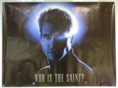 THE SAINT (1997) - ADVANCE DESIGN - ACTION / ADVENTURE / ROMANCE - VAL KILMER - UK QUAD FILM / MOVIE