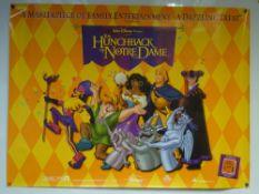 THE HUNCHBACK OF NOTRE DAME (1996) - ANIMATION / DRAMA / FAMILY - WALT DISNEY - UK QUAD FILM / MOVIE