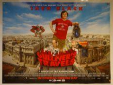 GULLIVER'S TRAVELS (2010) - ADVANCE DESIGN POSTER - ADVENTURE / COMEDY / FAMILY - UK QUAD FILM /