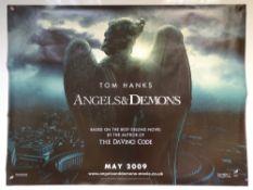 ANGELS & DEMONS (2009) - ADVANCE DESIGN MOVIE POSTER - MYSTERY / THRILLER - TOM HANKS / EWAN