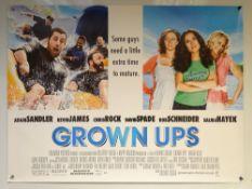 GROWN UPS (2010) - COMEDY - ADAM SANDLER / SALMA HAYEK - UK QUAD FILM / MOVIE POSTER - ROLLED AS