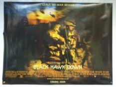 BLACK HAWK DOWN (2001) - ADVANCE POSTER - DRAMA / HISTORY / WAR - JOSH HARTNETT / EWAN MCGREGOR - UK
