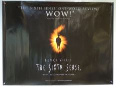 THE SIXTH SENSE (1999) - THRILLER / DRAMA - BRUCE WILLIS - UK QUAD FILM / MOVIE POSTER - ROLLED AS