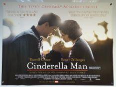 CINDERELLA MAN (2005) - BIOGRAPHY / DRAMA / SPORT - RUSSELL CROWE / RENÉE ZELLWEGER - UK QUAD FILM /