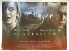 REGRESSION (2015) - CRIME / HORROR / MYSTERY - ETHAN HAWKE / EMMA WATSON - UK QUAD FILM / MOVIE