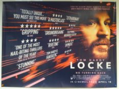 LOCKE (2013) - ADVANCE POSTER - DRAMA - TOM HARDY - UK QUAD FILM / MOVIE POSTER - ROLLED AS ISSUED