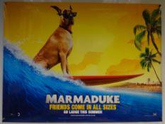 MARMADUKE (2010) - ADVANCE DESIGN MOVIE POSTER - COMEDY / FAMILY - OWEN WILSON - UK QUAD FILM /