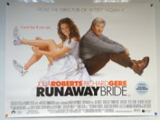 RUNAWAY BRIDE (1999) - COMEDY / ROMANCE - JULIA ROBERTS / RICHARD GERE - UK QUAD FILM / MOVIE POSTER