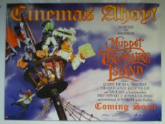 MUPPET TREASURE ISLAND (1996) - ADVANCE POSTER - ACTION / ADVENTURE / COMEDY - UK QUAD FILM /