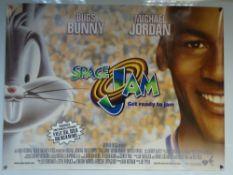 SPACE JAM (1996) - COMEDY / ANIMATION / ADVENTURE - BUGS BUNNY / MICHAEL JORDAN - UK QUAD FILM /