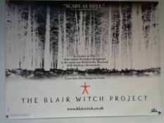 THE BLAIR WITCH PROJECT (1999) - THRILLER / HORROR - UK QUAD FILM / MOVIE POSTER - ROLLED AS ISSUED