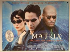 THE MATRIX (1999) - ACTION / SCIFI - KEANU REEVES - UK QUAD FILM / MOVIE POSTER - ROLLED AS ISSUED