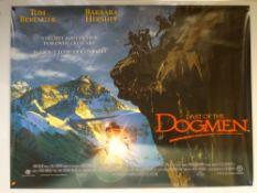 LAST OF THE DOGMEN (1995) - ADVENTURE / WESTERN - TOM BERENGER / BARBARA HERSHEY - UK QUAD FILM /