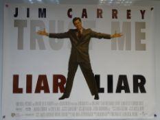 LIAR LIAR (1997) - COMEDY / ADVENTURE / FANTASY - JIM CARREY - UK QUAD FILM / MOVIE POSTER -