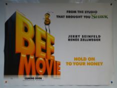 BEE MOVIE (2007) - ADVANCE POSTER 'HOLD ONTO YOUR HONEY' - ANIMATION / ADVENTURE / COMEDY -