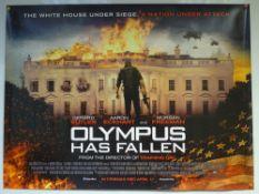 OLYMPUS HAS FALLEN (2013) - ADVANCE DESIGN POSTER - ACTION / THRILLER - UK QUAD FILM / MOVIE