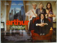 ARTHUR (2011) - COMEDY / ROMANCE - RUSSELL BRAND / HELEN MIRREN / JENNIFER GARNER - UK QUAD FILM /