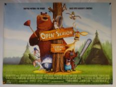 OPEN SEASON (2006) - ADVANCE POSTER - ADVENTURE / FAMILY / ANIMATION - UK QUAD FILM / MOVIE POSTER -