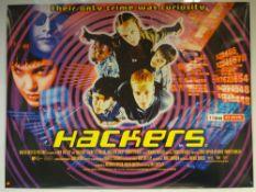 HACKERS (1995) - COMEDY / CRIME / DRAMA - ANGELINA JOLIE / JONNY LEE MILLER - UK QUAD FILM / MOVIE