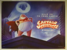 CAPTAIN UNDERPANTS: THE FIRST EPIC MOVIE- ADVANCE DESIGN POSTER - ANIMATION / ACTION / COMEDY - UK