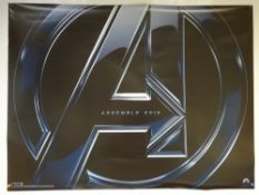 AVENGERS (ASSEMBLE) (2012) - ADVANCE POSTER - ACTION / ADVENTURE / SCI-FI / MARVEL - ROBERT DOWNEY