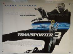 TRANSPORTER 3 (2008) - ACTION / ADVENTURE / THRILLER - JASON STATHAM - UK QUAD FILM / MOVIE POSTER -