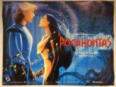 POCAHONTAS (1995) - ANIMATION / ADVENTURE / DRAMA - MEL GIBSON / CHRISTIAN BALE - WALT DISNEY - UK