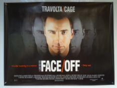 FACE/OFF (1997) - THRILLER / ACTION / CRIME - JOHN TRAVOLTA / NICOLAS CAGE - UK QUAD FILM / MOVIE
