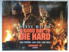 A GOOD DAY TO DIE HARD (2013) - TEASER DESIGN MOVIE POSTER - ACTION - BRUCE WILLIS - UK QUAD
