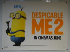 DESPICABLE ME 2 (2013) - ADVANCE POSTER 'KEVIN' - ANIMATION / ADVENTURE / COMEDY - UK QUAD FILM /