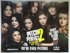 PITCH PERFECT 2 (2015) - ADVANCE POSTER 'WE'RE BACK PITCHES' - COMEDY / MUSIC - ANNA KENDRICK /