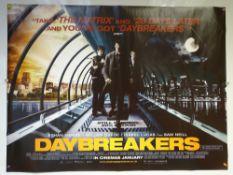 DAYBREAKERS (2009) - ADVANCE DESIGN POSTER - ACTION / FANTASY / HORROR - UK QUAD FILM / MOVIE