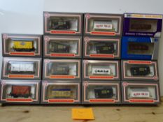 OO GAUGE MODEL RAILWAYS: A group of boxed DAPOL wagons to include: 12 x boxed ex-WRENN wagon