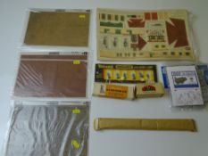 OO GAUGE MODEL RAILWAYS: A small quantity of model railway accessories and unbuilt kits to include a