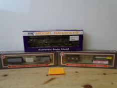 OO GAUGE MODEL RAILWAYS: A pair of DAPOL limited edition twin wagon packs together with a Spine