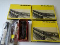 OO GAUGE MODEL RAILWAYS: A group of TRIX Coachbuilder kits - unbuilt - contents unchecked - together